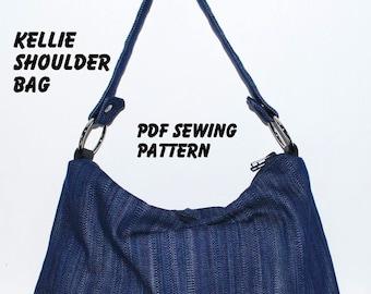 Instant Download PDF Pattern - KELLIE Shoulder Bag PDF Sewing Pattern - Letter-size Paper Format