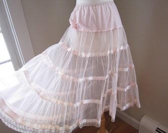 medium  large 50/'s Italian Cotton Petticoat