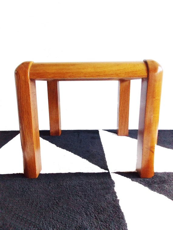 Lane Mid Century Wood Side Table 1960s 70s Small Solid Wood Etsy