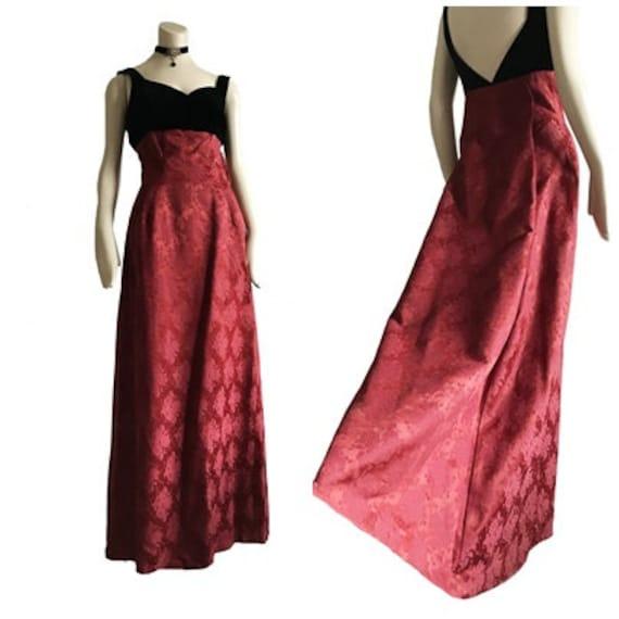 vintage 1950s designer Estevez Grenelle red floral