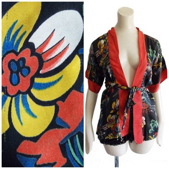 SPECIAL OFFER 1920s childs satin Robe   20s Japanese silk  b0ae6eef6
