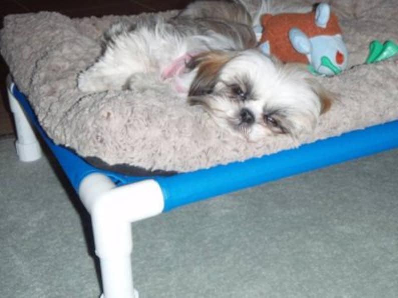 d13b50e4a528 Dog Bed 22x30 PVC Dog Cots Raised Bed Cat Hammock Small Dog   Etsy