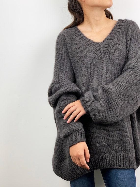 AMERICAN VINTAGE Pullover mit V Ausschnitt aus gemischter