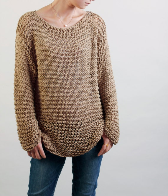 Simple is the best Hand knitted woman sweater Eco sweater   Etsy
