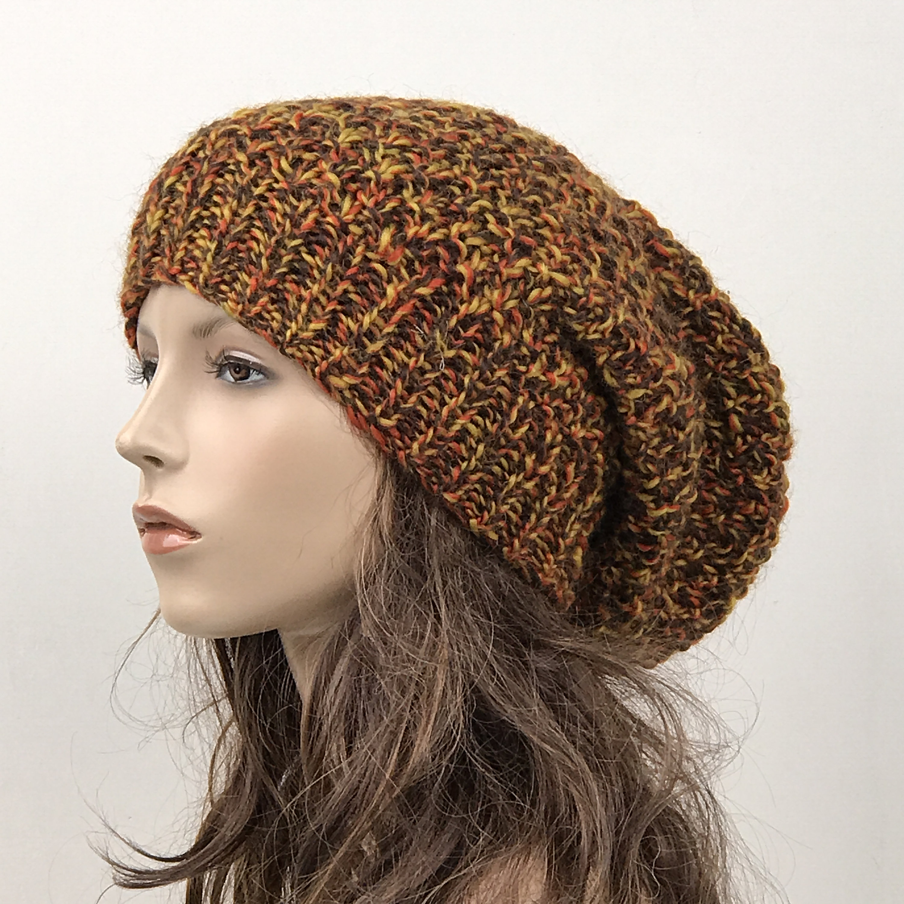 Hand knit woman hat - Oversized Wool Hat aba3b1af9b7