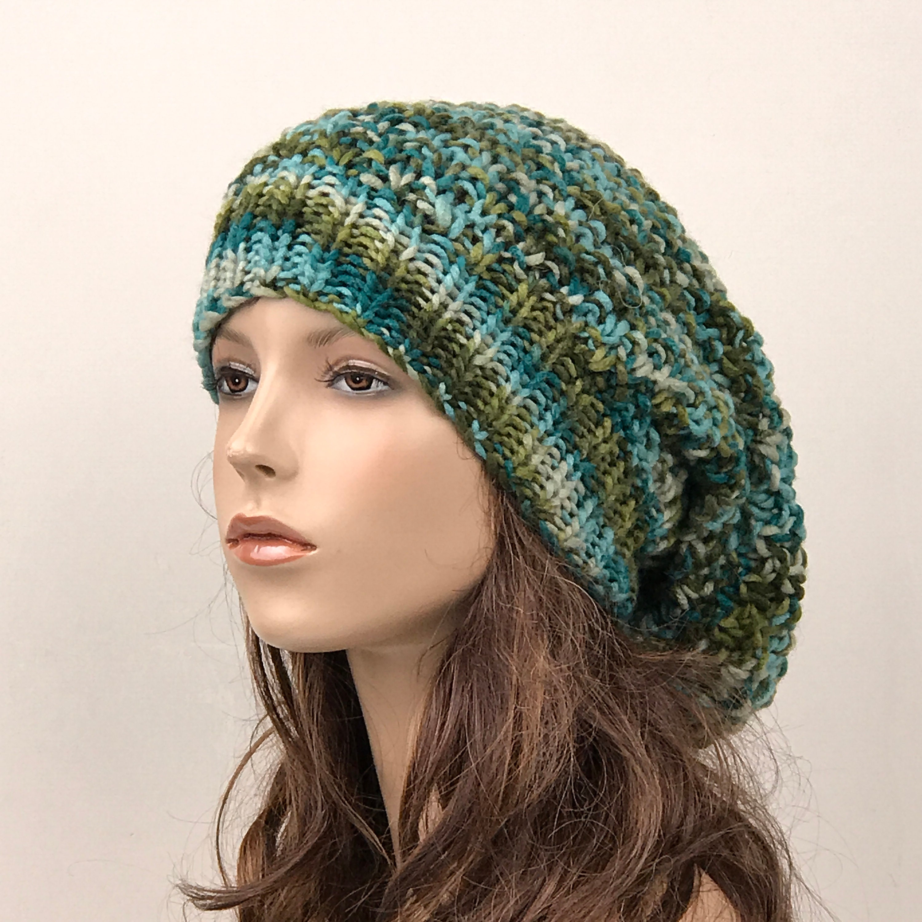 1712ccd1845 Hand knit woman hat - Oversized Wool Hat