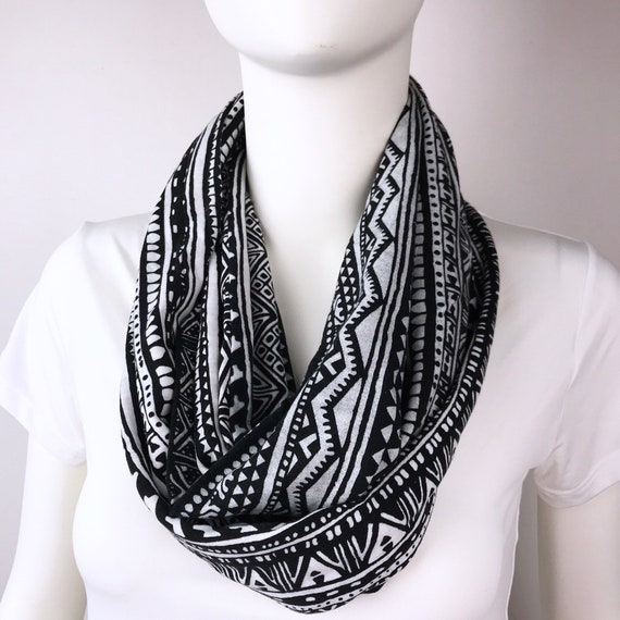 fa2af38793 Infinity tube scarf Knit jersey Infinity tube scarf cowl