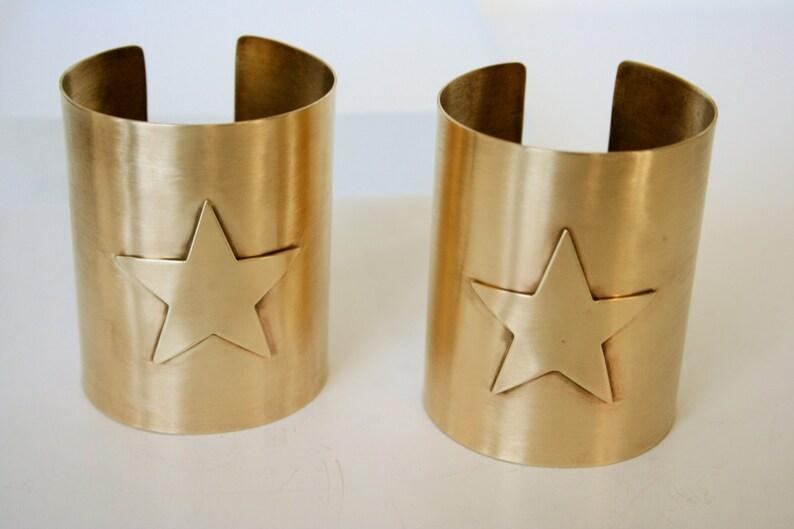 4d6f1c274 Wonder Woman Cuff Bracelet Set Star Cuff Bracelet Wonder   Etsy