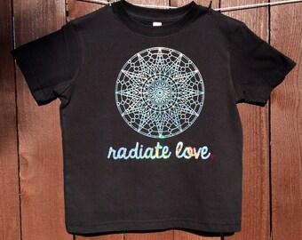 WOMENS Radiate Love Sun Sacred Geometry holographic t-shirt