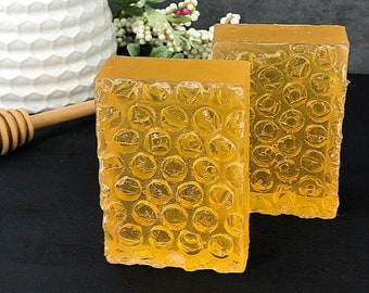 Honeycomb Glycerin Soap, All Natural Soap, Moisturizing Soap, Handmade Soap, Honey Soap Bar, Organic Soap, Handmade Bar Soap, Soap Favor