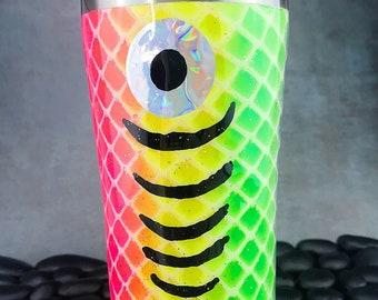 Fluorescent Fishing Lure epoxy tumbler, epoxy tumbler, fishing lure tumbler, bright colors tumbler, gifts for her, fishing gifts