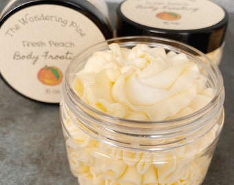 Fresh Peach Whipped Body Frosting, Body Lotion, Whipped Lotion, Body Frosting, Moisturizer, Dry Skin
