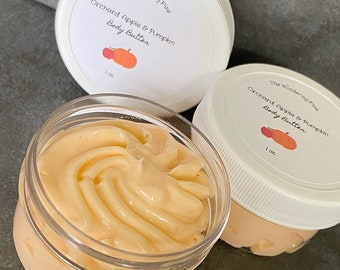 Orchard Apple & Pumpkin Body Butter, Body Moisturizer, Whipped Shea Butter, Scented Body Lotion, Whipped Body Butter, Natural Body Butter
