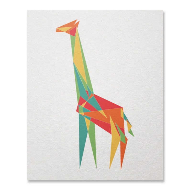 Pleasing Items Similar To Origami Giraffe Diagrams On Etsy Electronic Wiring Cloud Geisbieswglorg