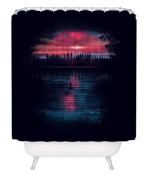 Forest Shower Curtain 71 X74 Lake Woodland Bathroom Decor