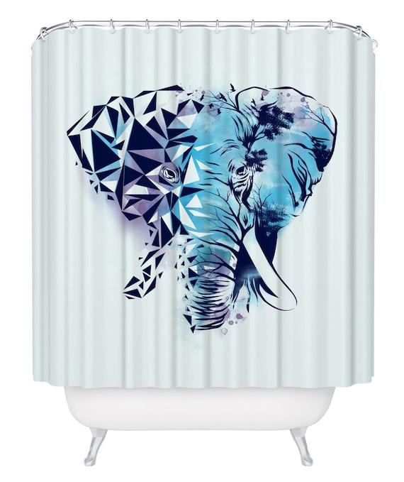 Elephant Curtain With Hooks Shower