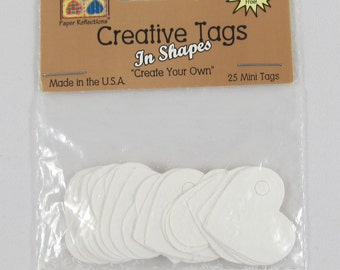 DOLLAR SALE - Creative Tags in Shapes - Mini Heart Tags #AA227.2