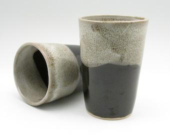 Wheel Thrown Tumbler, Water Glasses, Stoneware Tumbler, Pottery Tumbler, Iced Tea Glasses, High Fired Tumbler, Tumbler Cup, TB8,9