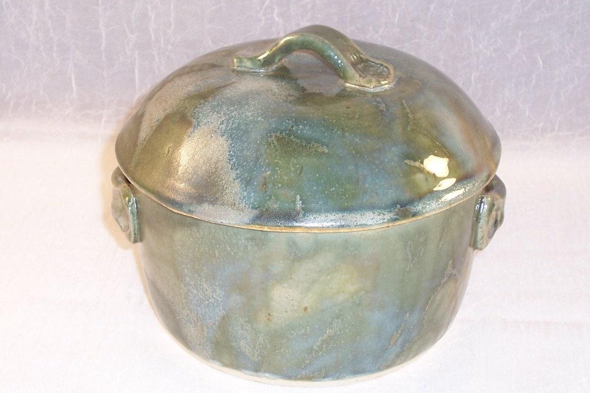 Ceramic Stoneware Baking : Stoneware casserole ceramic green baking dish etsy