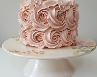 Rosette Fake Cake Your Choice Color Approx 6w X 4 5 H For First Birthday P O Shoot P O Prop Birthday Decor Shabby Chic