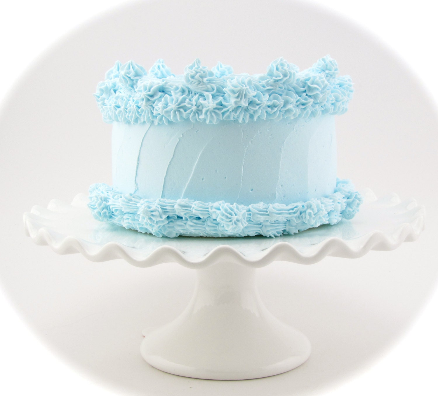 Fake Blue Cake Heavenly Cakes Collection Light Etsy