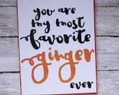 Favorite Ginger Funny Cut...