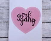 Heart Girl Gang Card- Galentines Day- Bridesmaid- Best Friends-Tribe
