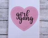 Heart Girl Gang Card- Gal...