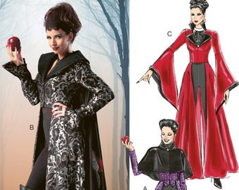 once upon a time costume sewing pattern mccalls m6818 sewing pattern evil queen uncut pattern sizes 4 6 8 10 12 or 12 14 16 18 20