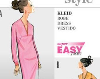 Retro Style 1960s Classic Dress Pattern - Burda 7111 Sewing Pattern - NEW UNCUT - US Sizes: 10 -12 -14 -16 -18 -20 -22 -24