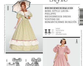 Victorian Sewing Patterns- Dress, Blouse, Hat, Coat, Mens Burda Sewing Pattern 7466 $6.95 AT vintagedancer.com