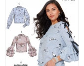 McCall 39 s M7723 Sewing Pattern, Misses Boho Tops Sewing Pattern with Length and Sleeve Variations, Sizes 14 -22, Summer Tops, UNCUT