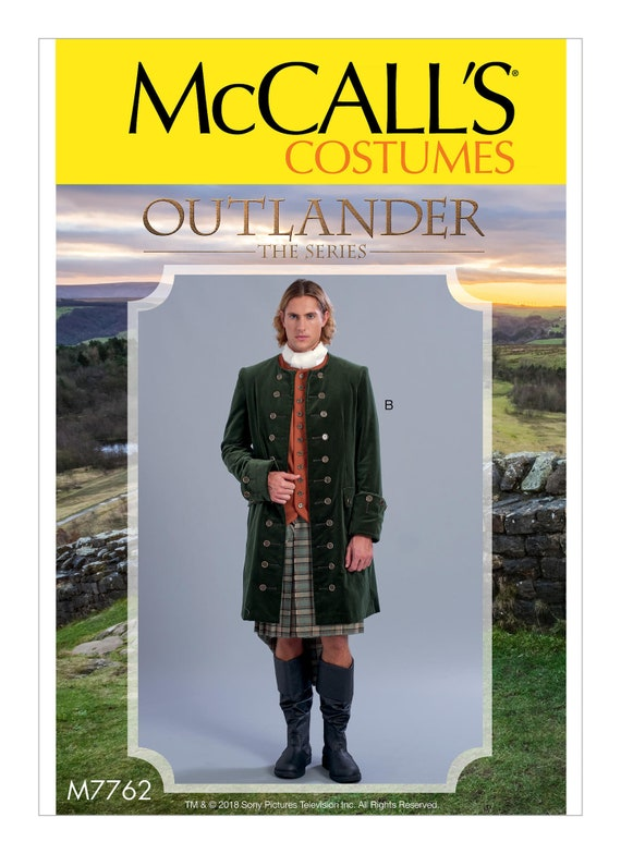 Herren keltische Kostüm Mantel Schnittmuster McCall M7762