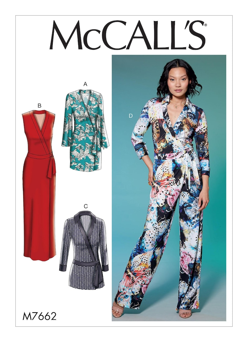 McCall's M7662 Sewing Pattern Misses' Wrap Dresses image 0