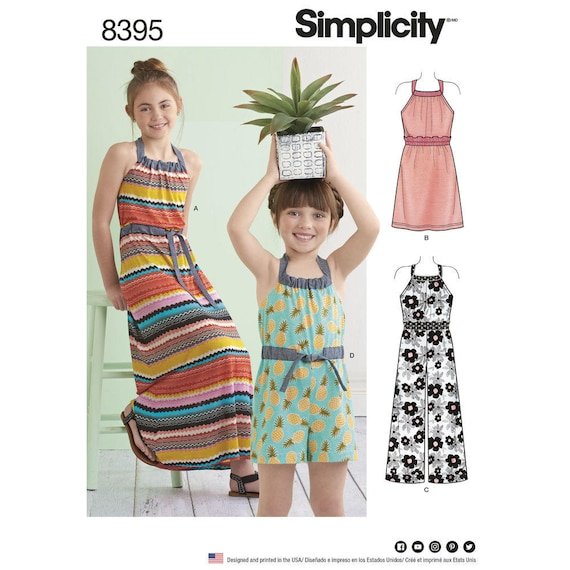 Simplicity SEWING PATTERN 8708 Childs//Girls Dress 3-6 Or 7-14