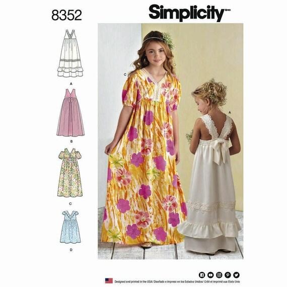 Girls Boho Dress Sewing Pattern Simplicity 8352 Dress | Etsy