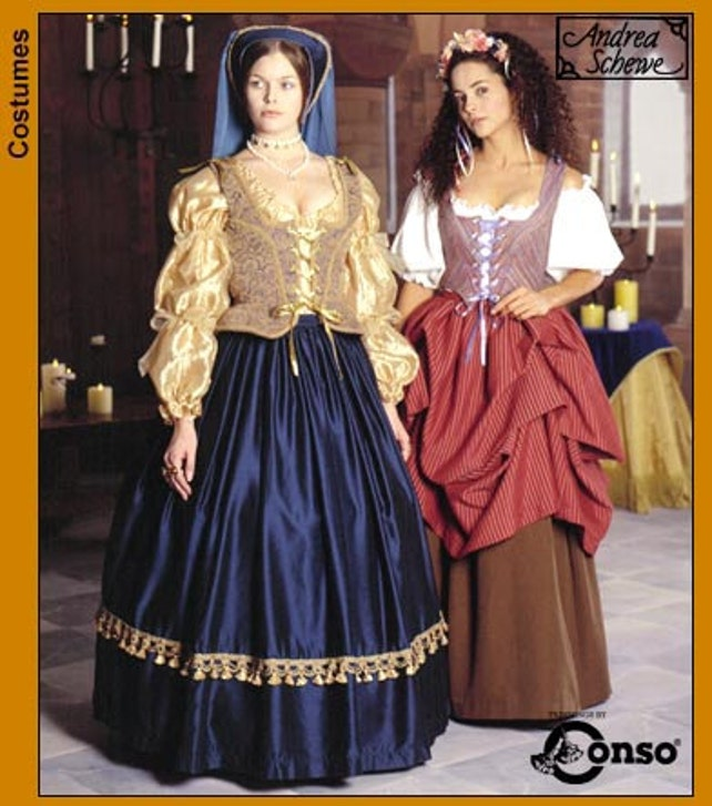 OOP Renaissance Gowns and Maiden Dress Pattern Size 10 12 | Etsy