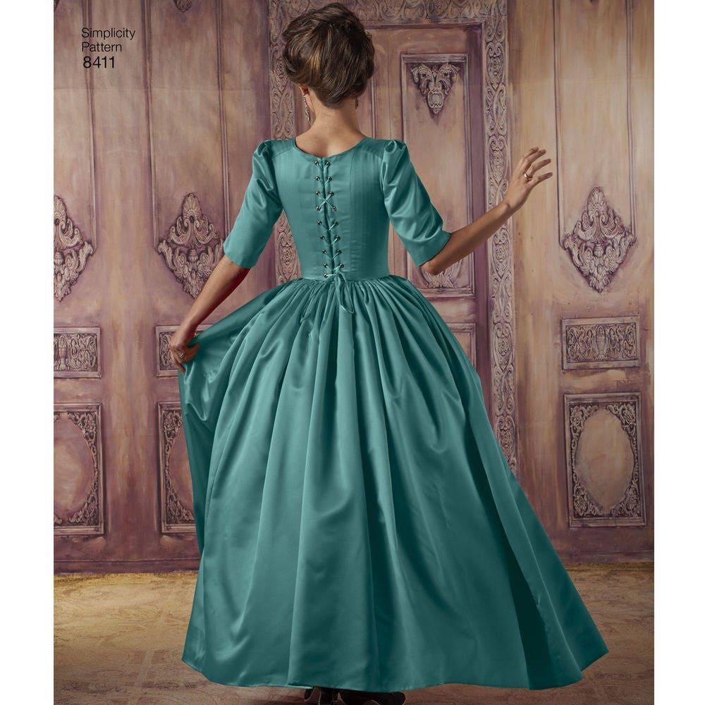 Misses\' 18th Century Costumes - Simplicity 8411 Misses Theatre ...