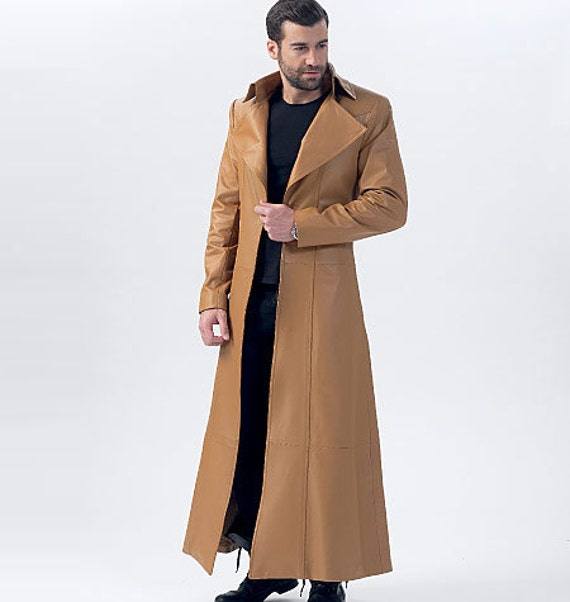 McCalls M40 Sewing Pattern Mens Trench Coat Pattern Etsy Fascinating Mens Trench Coat Pattern