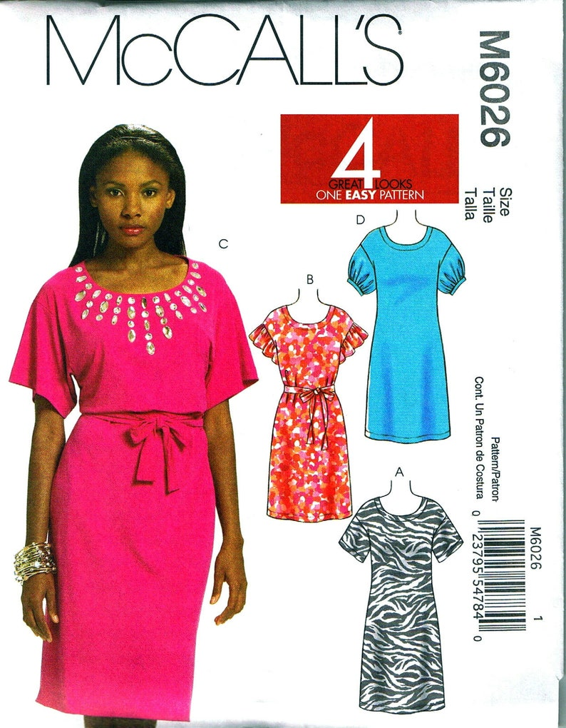 0409b63c6585c OOP Misses  Miss Petite Dress Sewing Pattern Sizes 4 6