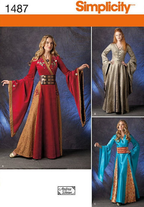 Medieval Dress Sewing Pattern Simplicity 60 Sewing Pattern Etsy Cool Medieval Dress Pattern