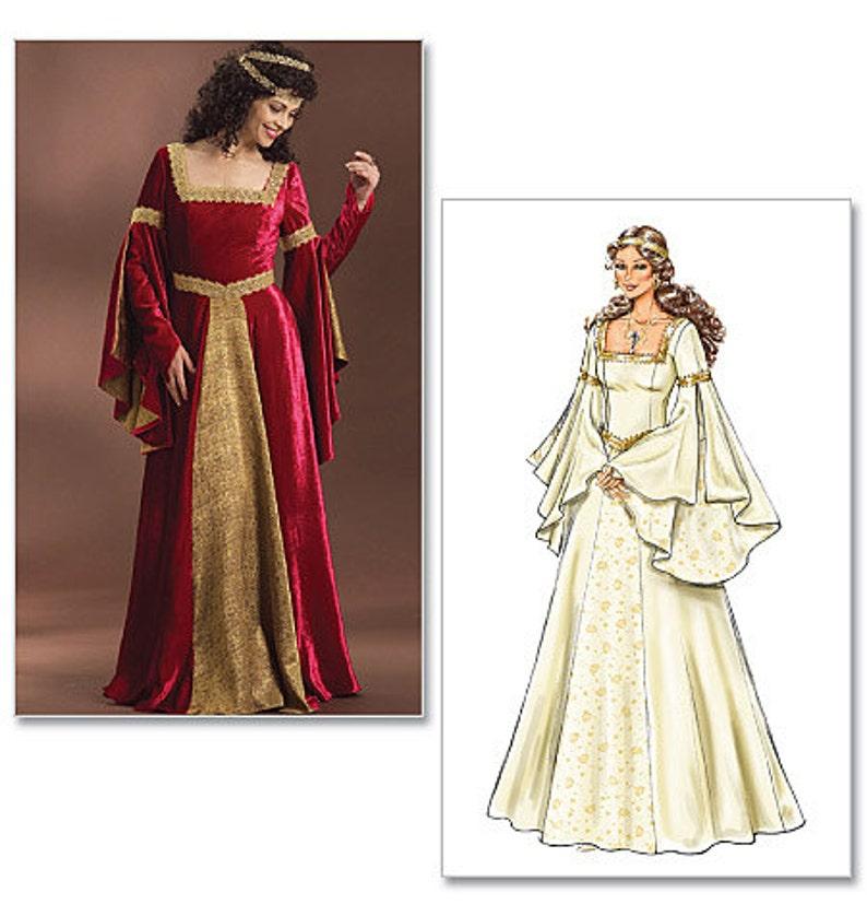 Historical Medieval Dress Pattern -Butterick B4571 Sewing Pattern- US  sizes: 6 - 12 or 14 -20 Renaissance dress