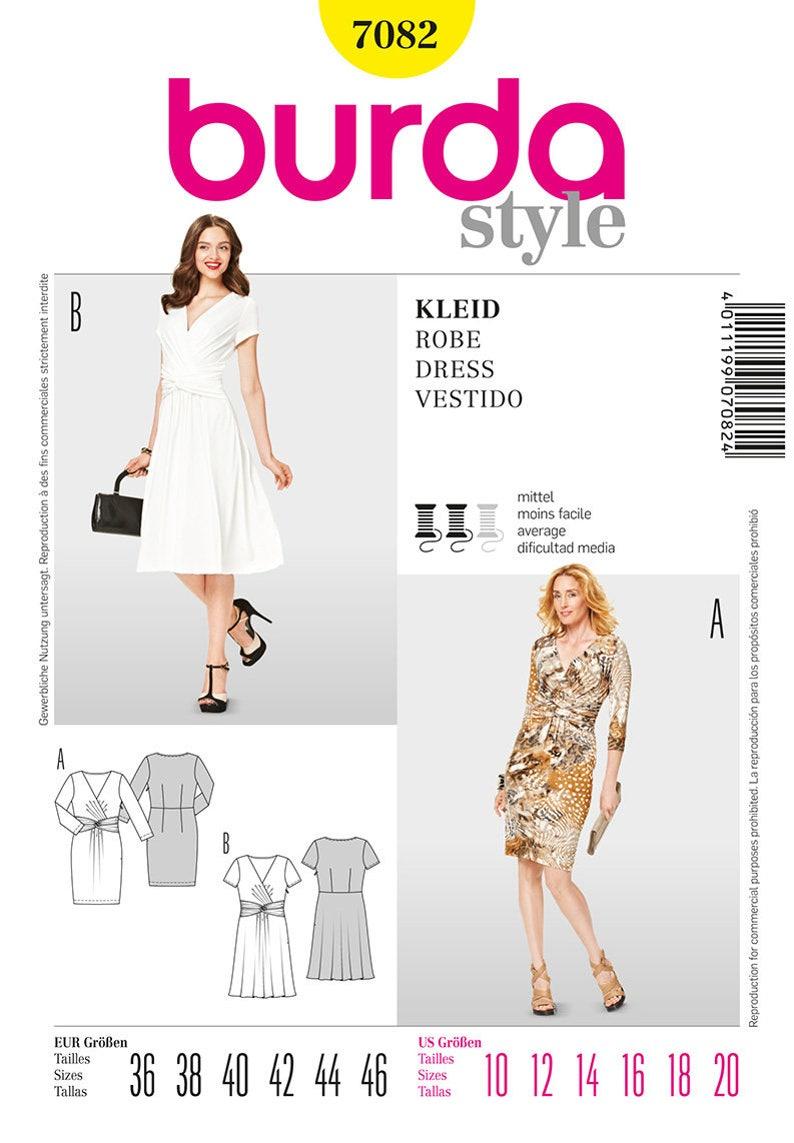 a7b17a4de4695 OOP Misses Long and Short Sleeve Dress Sewing Pattern Burda