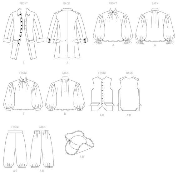 Herren historische Mantel Weste Hemd Hose und Hut | Etsy