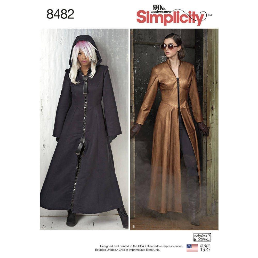 Lange Kostüm Mantel Schnittmuster Simplicity 8482 verfehlt