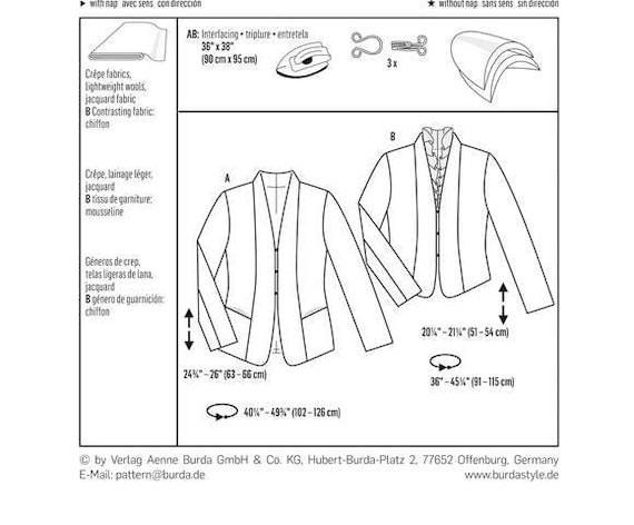 OOP Misses Dress Jacket Sewing Pattern Sizes: 8 10 12 14 | Etsy