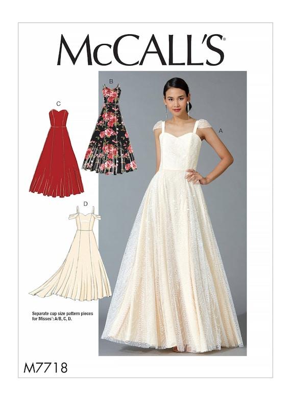 Misses Formal Dress Mccalls M7718 Sewing Pattern Etsy