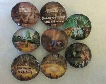 Wizard of Oz Magnets -SALE- Discontinued item - Quantities listed are what is available - Emerald City - Dorothy - Yellow Brick Road - Ozma