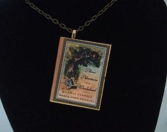 Alice in Wonderland Book Pendant/Ornament - Alice in Wonderland Jewelry - Literary Jewelry - Alice in Wonderland Jewelry - Book Lover Gift