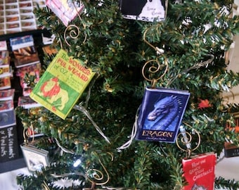Mini-Book Ornament - Christmas Ornament, Mini-Book Christmas Ornament - Mini Book Christmas Ornament - Christmas Carol-Ornament